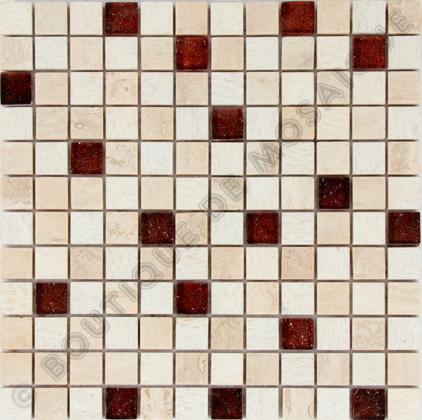 MM2313 mosaique izmir travertin 30 x 30 cm