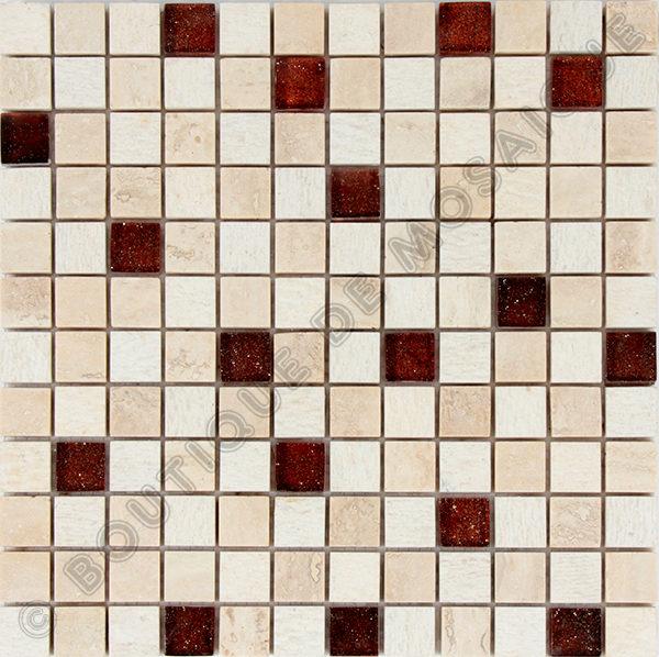 MM2313 mosaique izmir travertin 30 x 30 cm