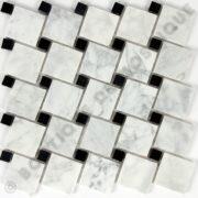 MMV17 mosaïque olgua bianco 30 x 30 cm