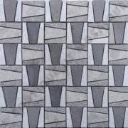MMV38 mosaïque pyramide gris 30 x 30 cm