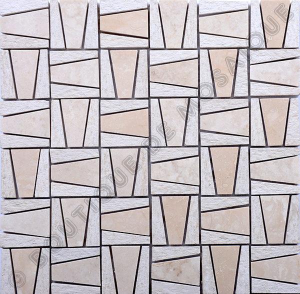 MMV39 mosaïque pyramide beige 30 x 30 cm