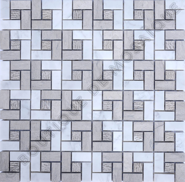 MMV41 mosaïque nettuno bianco 30 x 30 cm