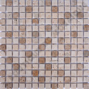MM2005 MOSAÏQUE TRAVERTIN NOCE - TRAVERTIN CLAIR AVEC LIQUIDE