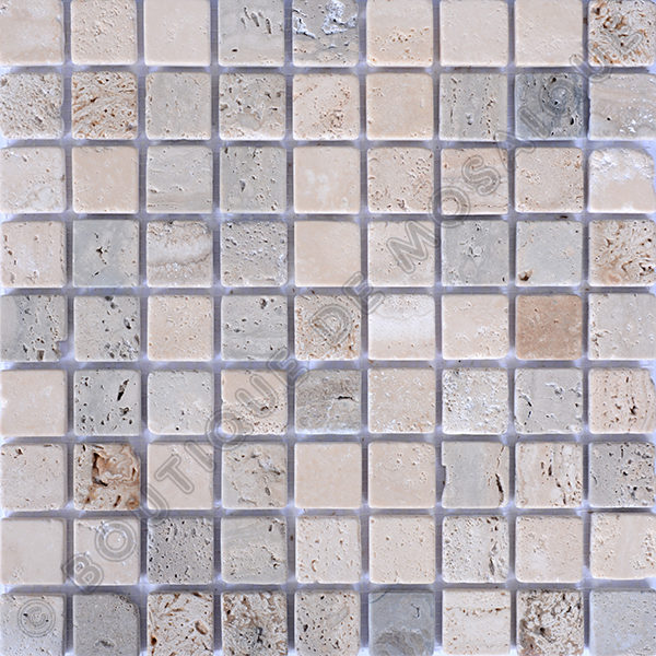MM3002 mosaïque travertin noce - travertin clair sans liquide