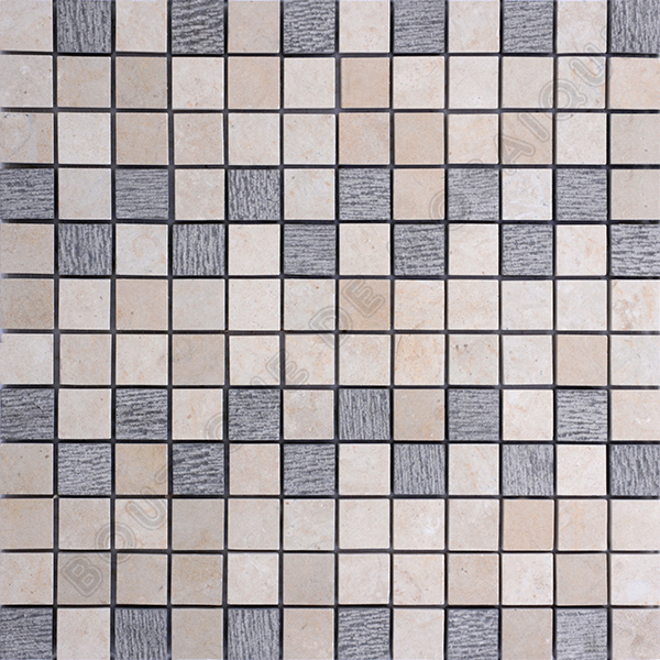 MM2324 mosaïque mix gris roulato