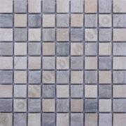 MM3016 Mosaïque damier thala gris/ thala beige