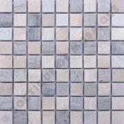 MM3017 Mosaïque thala beige thala gris damier