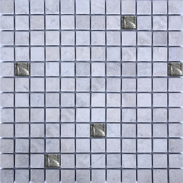 MM2328 mosaïque thala gris vibré + pate de verre