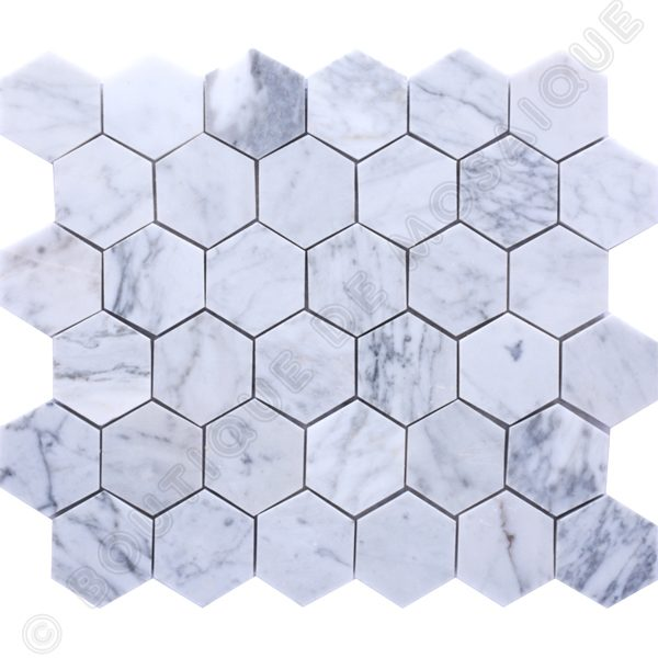 MMV104 mosaïque hexagone bianco