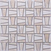 MMV116 mosaïque kamelio travertin